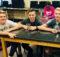 Jacob, Drake, and Daniel sitting